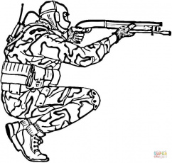 Soldier in Camouflage coloring page | Free Printable Coloring Pages
