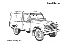 Free Land Rover Colouring Pictures 4x4