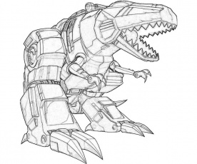 Transformers Fall of Cybertron Grimlock T-Rex | Mario