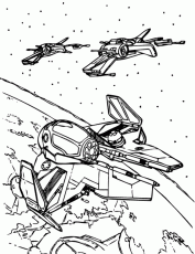 Jedi Starfighter Coloring Page - Free Printable Coloring Pages for Kids
