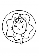Caticorn coloring pages