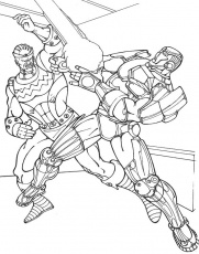 Fighting Iron Man Coloring Page | Coloring pages, Coloring pages for kids,  Coloring for kids
