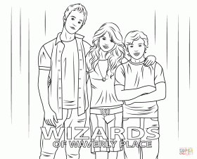 Wizards Of Waverly Place Coloring Page For Kids Coloring Home