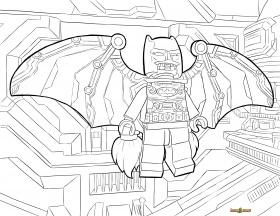Lego Batman Printable Coloring Pages - Kids Coloring Pages
