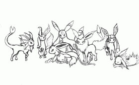 Pokemon Coloring Pages Eevee Evolutions - High Quality Coloring Pages
