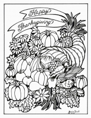 Adult Coloring Page: Serendipity Hollow: Thanksgiving Coloring ...