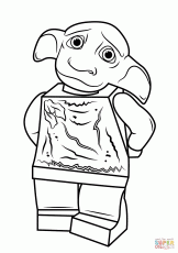 Lego Harry Potter Dobby coloring page | Free Printable Coloring Pages