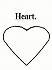 Heart Shape Pictures To Color