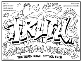 Multicultural Graffiti Free Coloring Pages - New York City themes