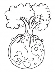 Protect environment is the message of the Earth Day coloring page ...