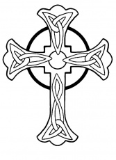 Celtic Cross Coloring Page
