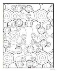 flower rose window 100410. how to color geometric color sheets pa ...