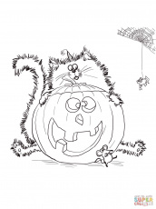 Splat The Cat Halloween Coloring Page