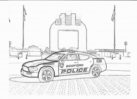 Police Car Coloring Page Free - Coloring Page