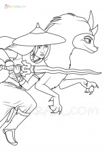 Raya and the Last Dragon Coloring Pages | New Images Free Printable