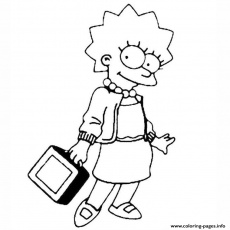 Les Simpson Lisa Coloring Pages Printable