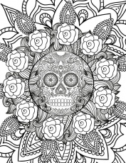 Free Spooky Halloween Adult Coloring Page - Nerdy Foodie Mom