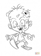 Head of Zombie coloring page | Free Printable Coloring Pages