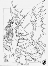 Adult Fairies Coloring Pages Printable, or print fairy download or ...
