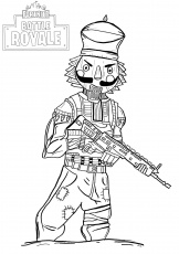 coloring page: Fortnite Coloring Print Heroes From The Game ...