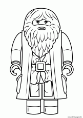 Print lego rubeus hagrid minifigure harry potter Coloring pages ...