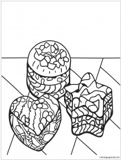 Zentangle Desserts Coloring Page - Free Coloring Pages Online