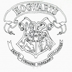 Ravenclaw Crest Coloring Page | Database Coloring Page Ideas