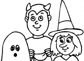 Amazing of Coloring Pages Halloween From Free Halloween C #3511