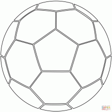 Free Printable Soccer Ball Coloring Page - Coloring pages