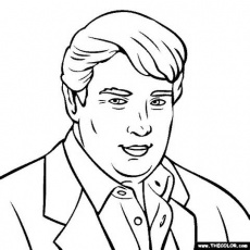 Donald Trump Republican Coloring Page Coloring Pages
