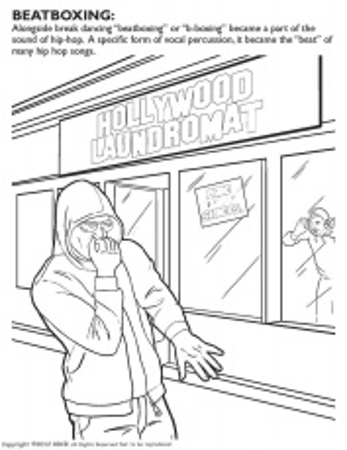 coloring books hip hop gangsta rap coloring book - Hip Hop Coloring Book