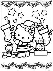 Hello Kitty Decoration Christmas Coloring Free Christmas Cartoon Coloring  Pages Coloring page african crafts for kids kids memory pictures to colour  unicorns coloring in dog halloween color by number Be smart people