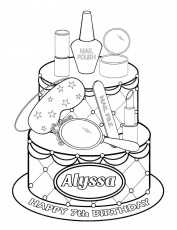 Coloring Pages : Podarok Na Let Alisse_115600 Online Coloring Pages Page  Gift For Years Alyssa Makeup Girls Wearing Kids Free Staggering Makeup  Coloring Pages Photo Inspirations ~ Off-The Wall ATL