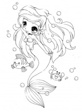 anime mermaid coloring pages - High Quality Coloring Pages