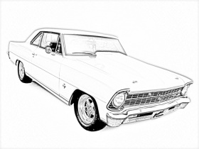 car printable coloring pages | Only Coloring Pages - Muscle Car Coloring Pages