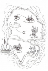 Simple Treasure Map Coloring Page