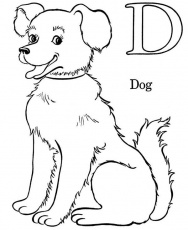 D Is For Dog Coloring Page : Color Luna