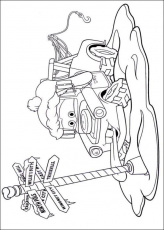 Kids-n-fun.com | 5 coloring pages of Cars Christmas