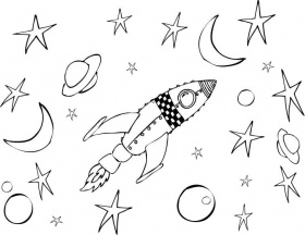 Space Rocket Coloring Pages - Pics about space