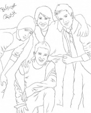 Big Time Rush Coloring Pages For Kids Page 1  Coloring Home