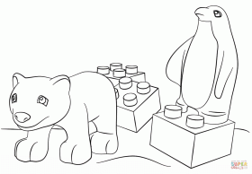 Lego Friends Animals Coloring Page