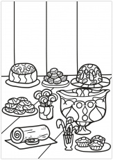 Free book cupcake 1 - Cupcakes Adult Coloring Pages