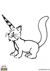 Caticorn Coloring Page | coloringwithkids.com