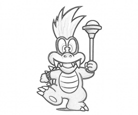 Iggy Koopa Play Coloring Pages | Mario coloring pages