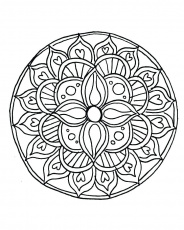 Easy Mandala Coloring Pages Plus Also Medium Size Of - Simple ...