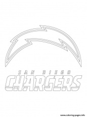 San Diego Chargers Logo Football Sport Coloring Pages Printable