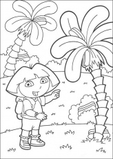 DORA THE EXPLORER coloring pages - Map
