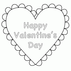 valentines day heart coloring page