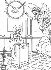 The Ascension Stained Glass Coloring Page Free Printable