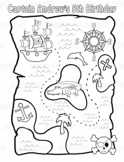 pirate treasure map coloring page getcoloringpagescom - Pirate Treasure Map Coloring Page